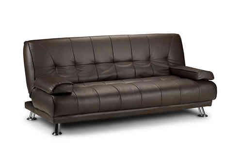 Sleep Solutions - Faux Leather Sofa Bed - Save 80%