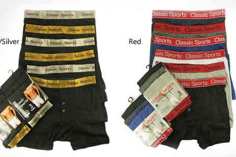 RZK Textiles - 6  Pack of Mens Boxers - Save 19%