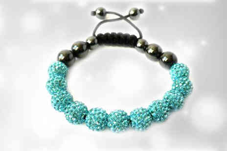 Avatora international - Bright Blue Ball Crystal Bracelet - Save 73%
