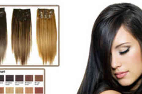Discounts4You - 18 inch Natural Remy Clip in Hair Extensions - Save 58%