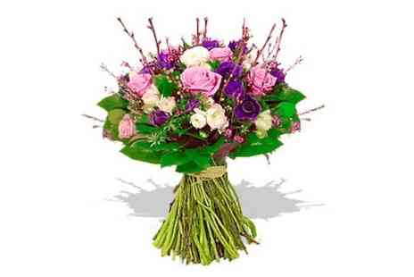 Dreams Flowers company - Luxury pink rose & willow bouquet - Save 18%
