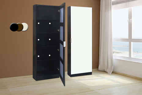 DIRECT FURNITURE SUPPLIERS  - Mirrored shoe cabinet   - Save 53%