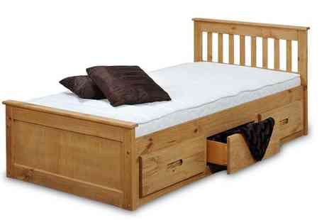 Amani International - Childrens Wooden Bed with Storage - Save 57%