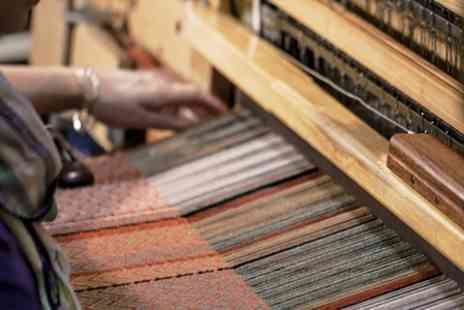 K Fraser Textiles - Half Day Beginners Weaving Class With Refreshments For One - Save 56%