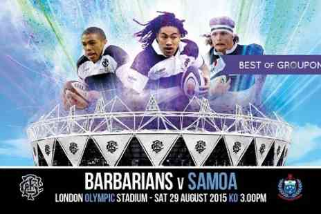 Barbarians - Adult Ticket to Barbarians v Samoa  - Save 0%