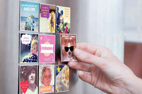 Sticky9 -  Nine medium personalised Instagram photo magnets  - Save 30%