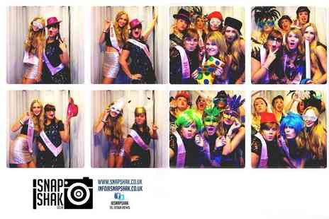 SnapShak - Three hours photobooth hire including unlimited photos, digital copies and props  - Save 53%