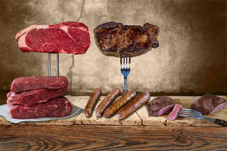 Farmison - Luxury steak hamper including 10 free range steaks, 4 sausages and a Michelin Chef cooking guide - Save 59%