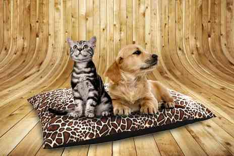 Textiles Direct - Deep Filled Animal Print Dog Bed - Save 63%