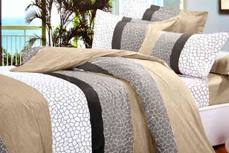 Divinity Fashion - Rocky Print Double Duvet Cover Set - Save 63%