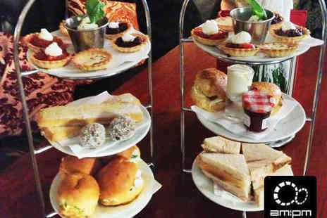 AM PM  - Afternoon Tea with Glass of Bubbly Each for Two - Save 48%