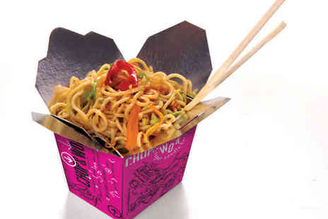 Chop and Wok - Wok Box with Prawn Crackers and a Large Soft Drink for One  - Save 51%