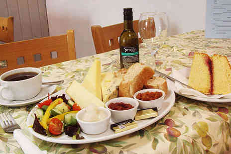 Tancred Farm Shop - Ploughmans or Huntsmans Lunch with a Glass of Wine or Beer, a Cake, and a Hot Drink Each for Two  - Save 56%