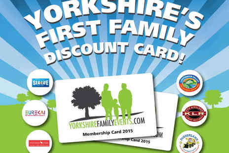 yorkshire family events - 12Month Family Discount Card for Local Attractions Including Sea Life and Diggerland, Delivery Included - Save 50%