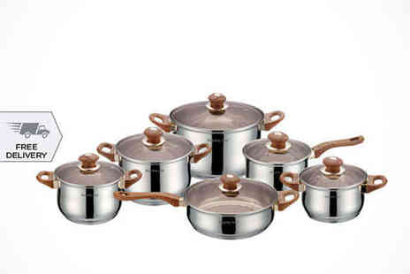 Dealquest - Royalty Line Cookware Set  Delivery Included - Save 69%