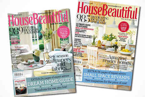 House Beautiful  - 12 Month Subscription of House Beautiful, Delivery Included - Save 68%