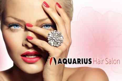Aquarius - Minx, Shellac or Nail Extensions Manicure and Minx or Shellac Pedicure for £17.50 - Save 60%