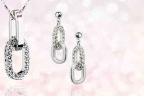Gevani - Sparkling silver plated jewellery set  plus delivery  - Save 0%