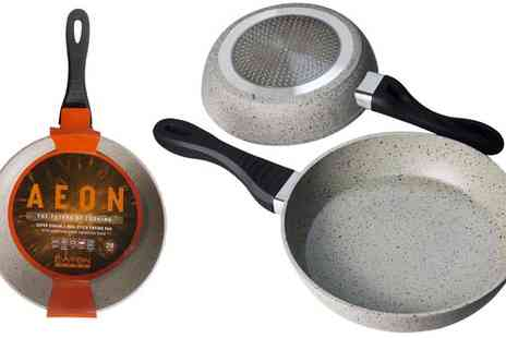 Sergio Investments - 2 x Stone Coated Frying Pans - Save 50%