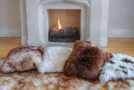 Sheepys - British Sheepskin Square Cushion Cover - Save 25%