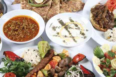 Nargile - Turkish Banquet Lunch For Two With Hot and Cold Meze - Save 52%