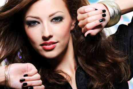 Urban Hair Boutique - Blow Dry With Gelish Nails and Wine - Save 51%