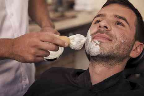 James Shaw Barbershop  - Mens Haircut With Hot Towel Shave  - Save 40%