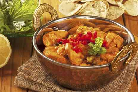 Asian Spicy - Two Course Indian Meal With Side For Two - Save 0%