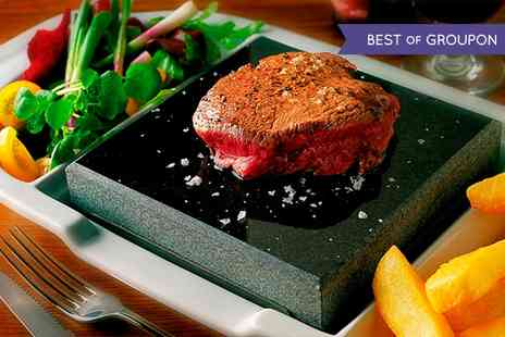 Fleur De Lis - Hot Rock Sirloin Steak Meal With Crocodile & Chorizo Skewer For Two - Save 52%