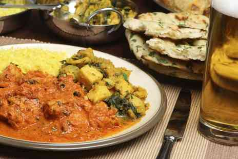 Kismet Indian Cuisine -  Main Meal and Rice or Naan With Beer or Wine For Two  - Save 0%