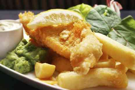 The Ostrich inn - Homemade Fish, Chips and Peas For Two - Save 0%