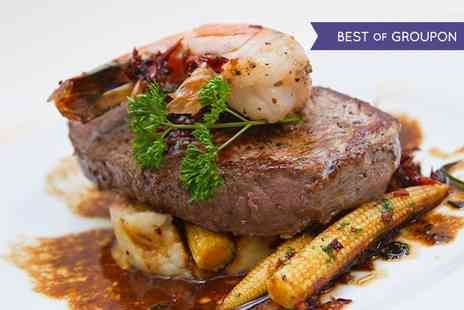 Olivers Wine Bar and Restaurant - King Prawns and Steak Meal With Wine for Two  - Save 56%