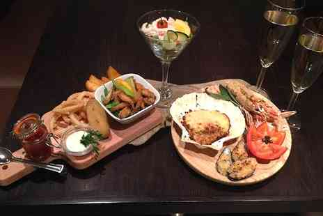 Elysium - Sharing Platter or Burger Meal With Prosecco For Two - Save 55%