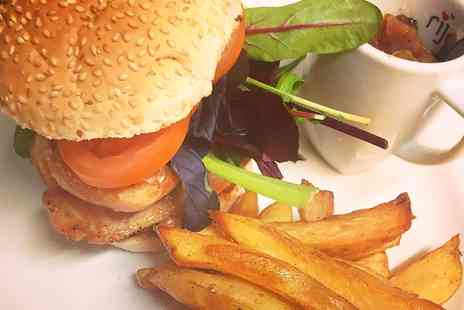 The Old Canteen - Burger and Chips For Two  - Save 58%