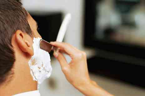 The Mens Room - Cut Throat Shave, Cut and Finish - Save 52%