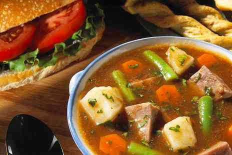 Lucys Tea Room - Bowl of Soup and a Sandwich For Two - Save 56%