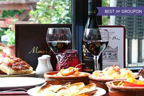 Marcos Bar -  £40 Worth of Tapas For Two - Save 50%