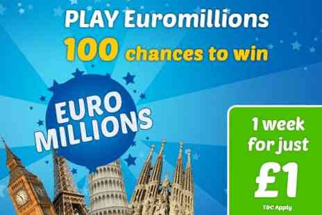 WinMoreLotto - 50 chances to win the Euromillions syndicate jackpot & 50 raffle entries - Save 83%