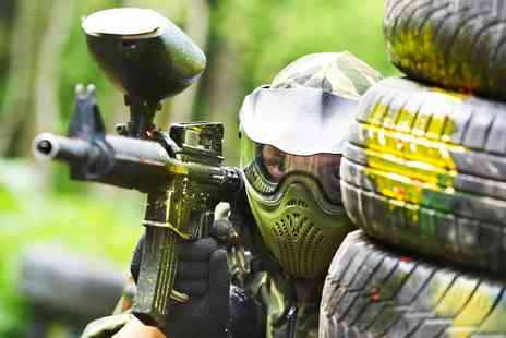On the Edge Events - Paintballing 100 Paintballs, Lunch and Hot Drink For Ten - Save 0%