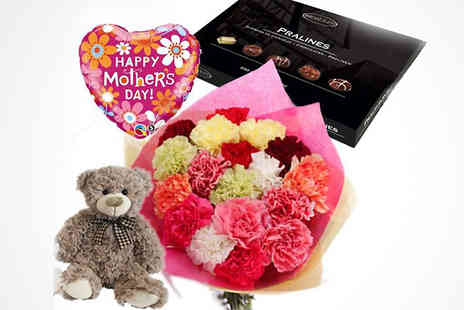 Flowersdelivery4u - Mothers Day Mix Carnations Hamper - Save 43%