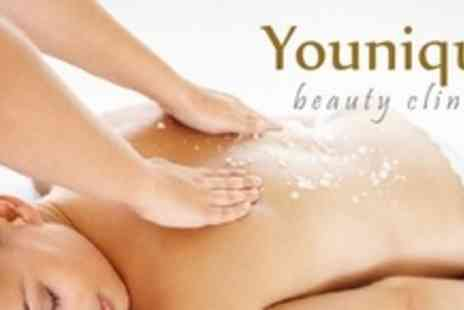 Younique Health Spa - Full Body Exfoliation and Full Body Massage Plus Signature Facial For One - Save 58%