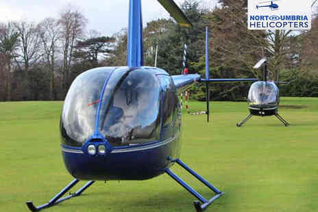 Northumbria Helicopters - Six-Mile Helicopter Buzz Flight for One - Save 34%
