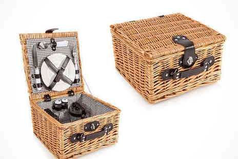 Picnic Hamper - Willow Picnic Basket For Two  - Save 0%