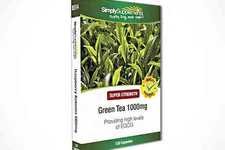 120 Green Tea Extract Capsules - Green Tea Extract, Delivery Included - Save 47%