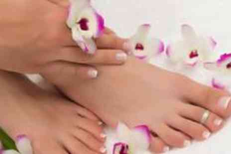 Addiction Beauty Salon - Luxury manicure and pedicure with spray tan - Save 70%