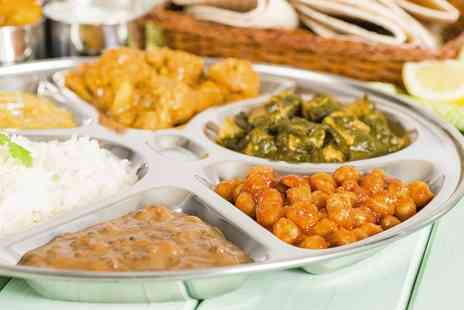 Teji Express - All You Can Eat Vegetarian Thali Meal With Drink for Two  - Save 0%