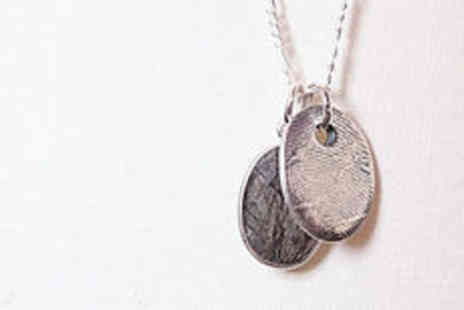 Cartres - Sterling silver fingerprint necklace  plus delivery  - Save 0%