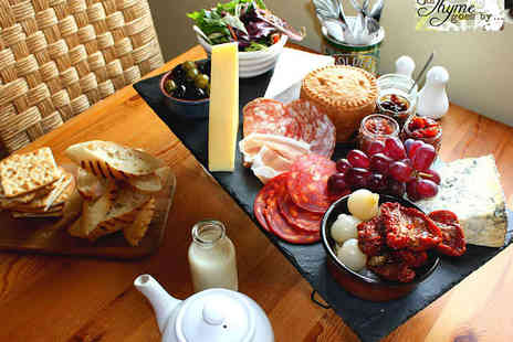 As Thyme Goes By - Yorkshire Sharing Platter for Two  with Tea or Coffee Each - Save 50%