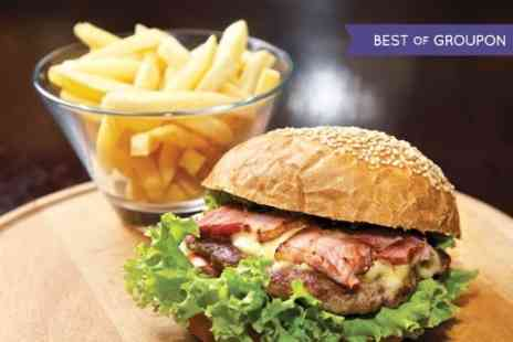 Queens Cafe Bar - Chargrilled Beef Burger Meal With Beer For Two  - Save 50%