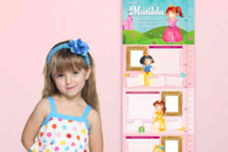 Frame My Name - Children's Personalised Height Chart - Save 50%